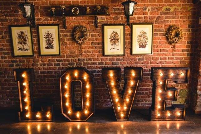 Napis LOVE RUSTYKALNY niepowtarzalny/wesele/plener/sesje