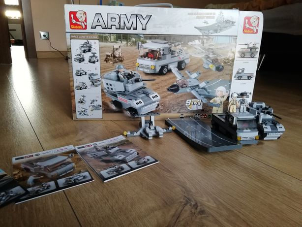 Klocki sluban army wojsko 9 w 1 nowe