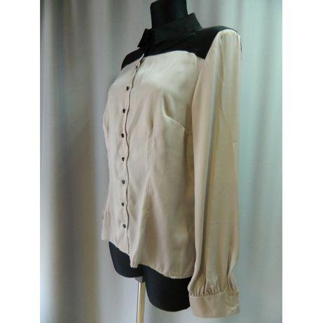 Блуза Nife капучино с черным. Размер 40. Новая.