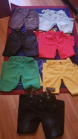 Spodnie reserved, H&M rozm. 128