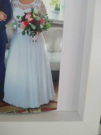 Suknia ślubna z rękawem rozmiar40