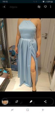 Suknia wieczorowa sukienka koktajlowa wesele studniówka długa rozciece