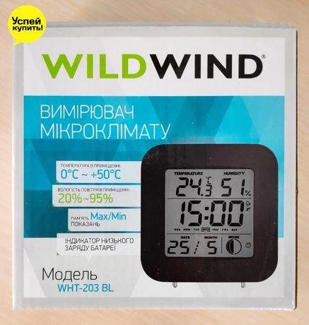 Термогигрометр цифровой Wild Wind WHT 203 Часы Температура