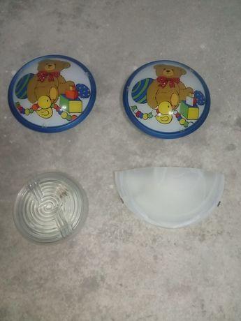 4 Candeeiros de parede ou teto com casquilho e oferta das lâmpadas
