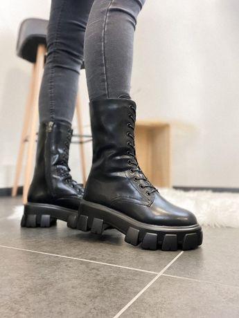 Ботинки/сапоги Prada Pouch Combat Boots Black (Две расцветки)