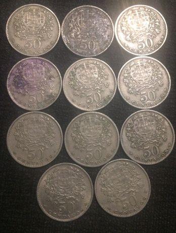 10 moedas de 50 centavos (1966)