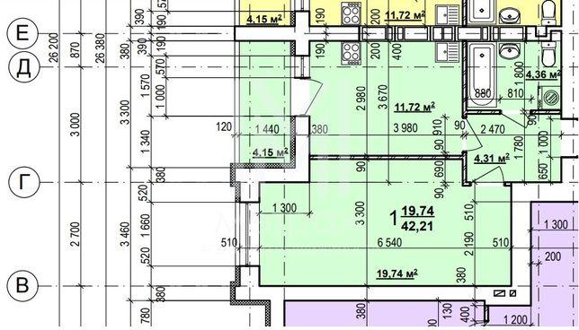 Под ваш эксклюзивный ремонт 1 комнатная квартира в ЖК Мира 2. ХТЗ