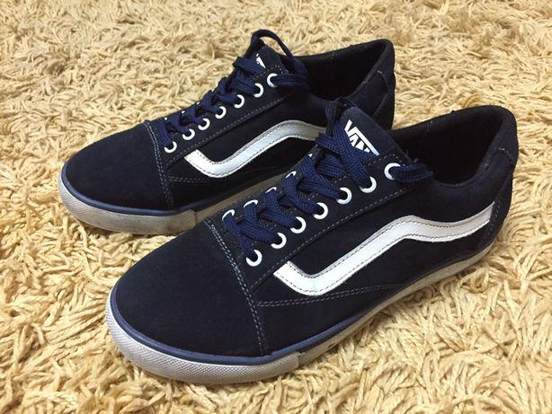 Кеды мокасины туфли спортивные темно синего увета
