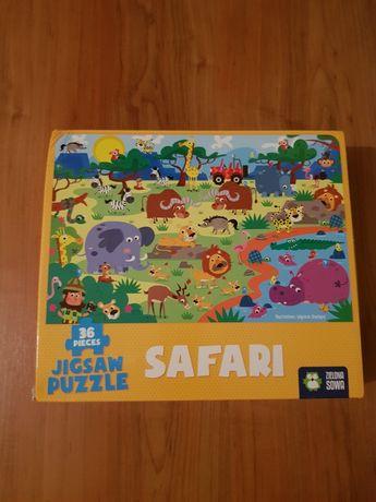 Puzzle XL zielona sowa- Safari +4