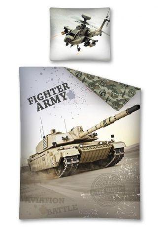 Pościel dziecięca/ młodzieżowa Armia/czołg/ wojskowa 160x200