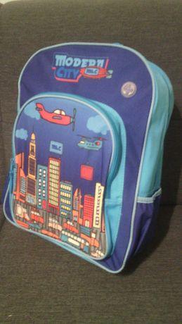 Plecak szkolny Modern City, niebieski Empik