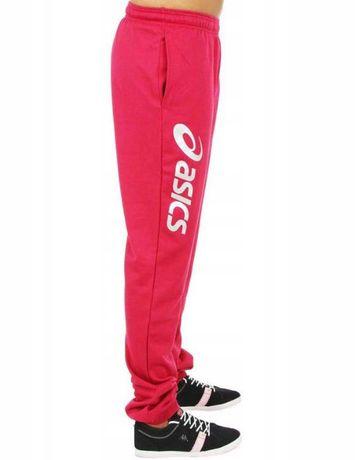 Nowe Asics Spodnie Dziecięce Dresowe Różowe / Czerwone 140cm