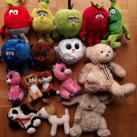 Pluszaki Zabawki dla dzieci 16 szt Świeżaki słodziaki misie Reksio