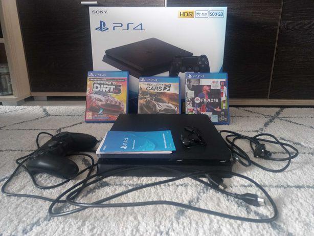 Konsola PlayStation 4 slim 500GB stan bardzo dobry + 3 gry + pad