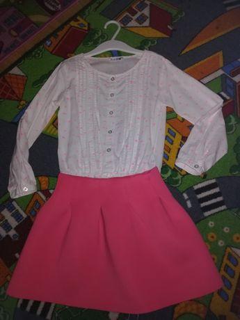 Bluzka koszula Cool Club, spódniczka pianka 116/122