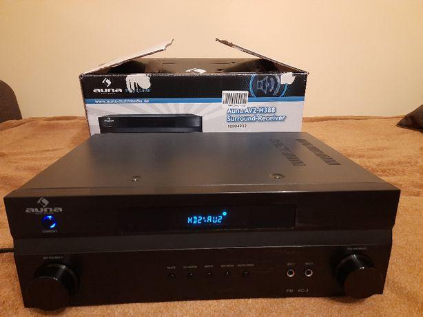 Amplituner Auna AV2-H338 wzmaczniacz surround 3xHDMI, 1200 W
