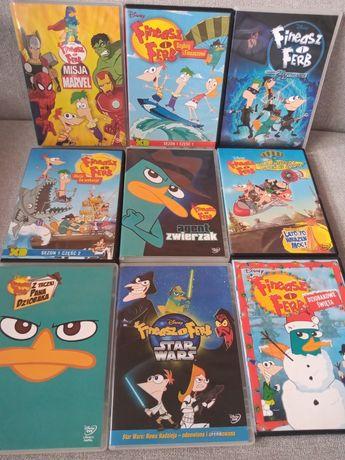 Zestaw bajek DVD Fineasz i Ferb 9 plyt