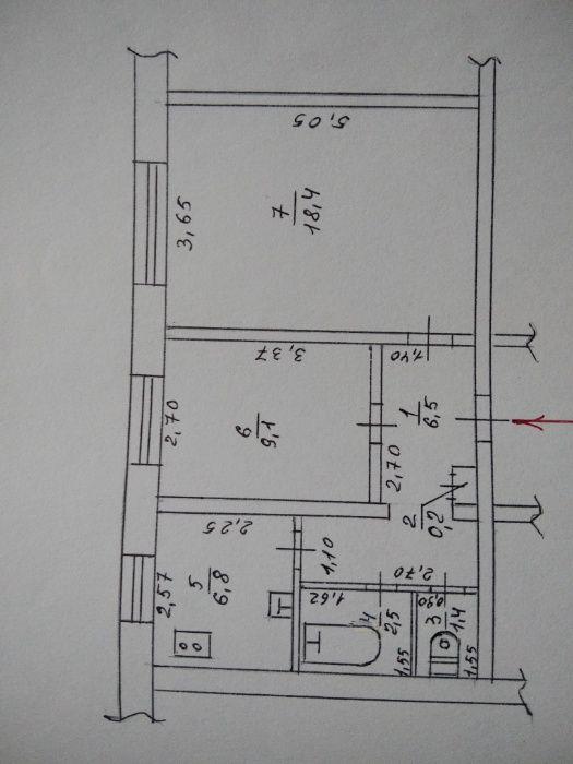 Продам двухкомнатную квартиру Орджонікідзе - зображення 1