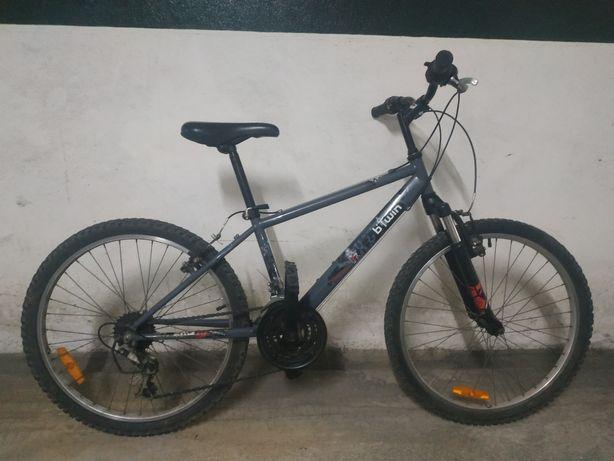 "Bicicleta btwin urbano rider roda 24"" p/criança"