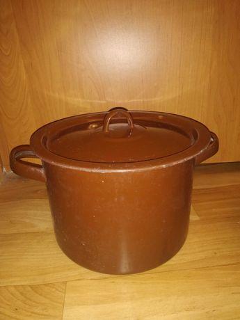 Кастрюля эмалированная 6 литров