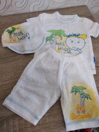 Детский лёгкий костюм,шорты, футболка,кепка