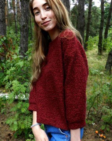 Бесплатная доставка. кофта бордо, красная, червона, осінь - весна