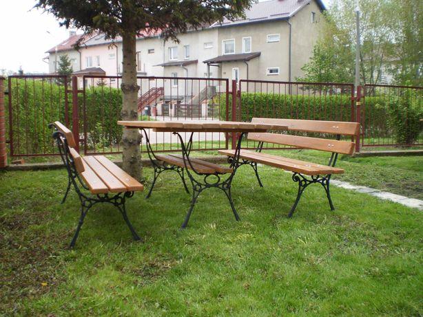 Meble ogrodowe ławka nogi żeliwne150cm dostawa 48h