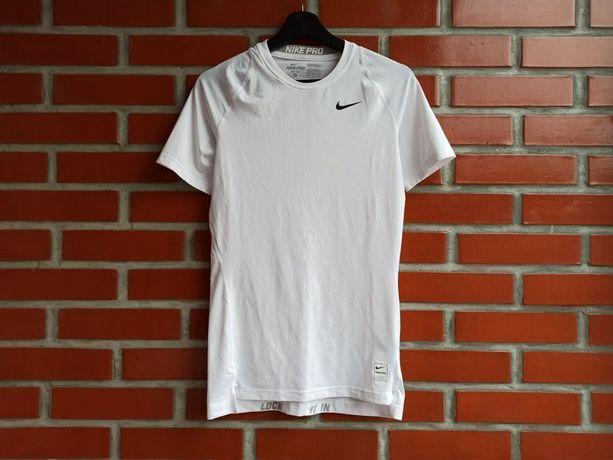 Nike Pro Compression белая футболка рашгард термо размер М