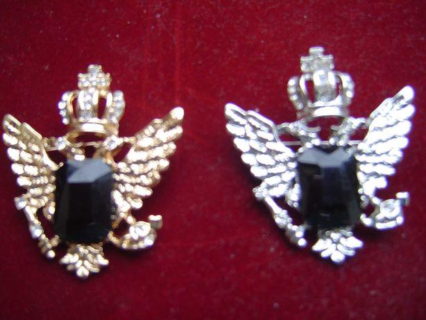 ORŁY CARSKIE z kamieniem - złoty i srebrny - 1 i 2 klasy
