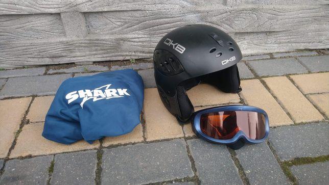 Kask na narty snowboard DKB rozm. 56-58 + Gogle