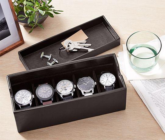 Caixa Guarda Relógios Couro