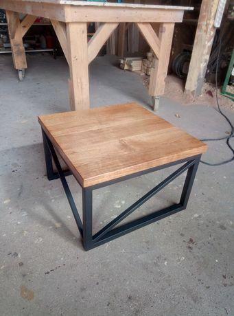Stolik kawowy stol biurko lity dab loftowy loft ława