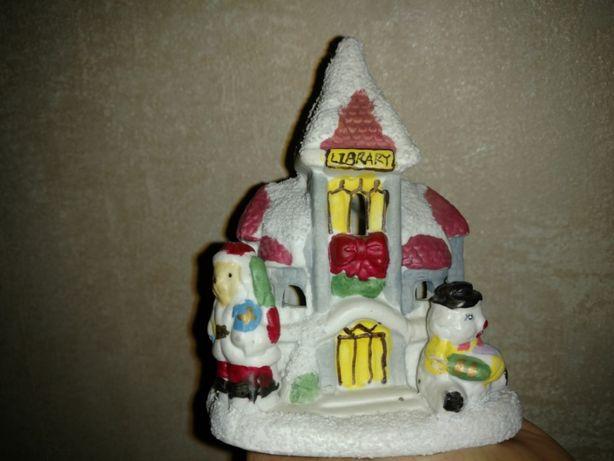 Подсвечник винтажный домик из Англии оригинальный новогодний подарок