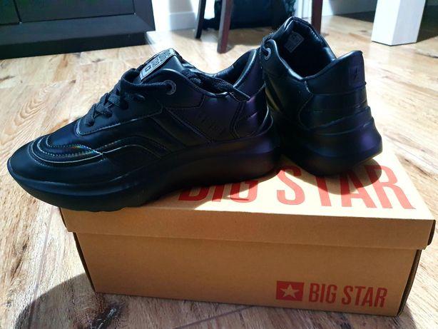 Buty sportowe czarne dziewzęce r.36