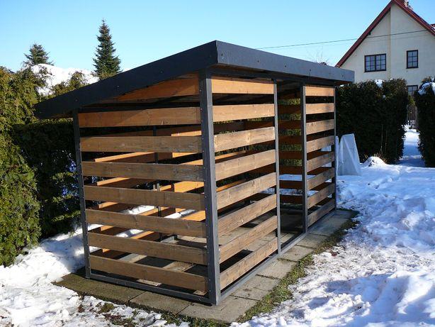 Drewutnia, domek ogrodowy narzędziowy + płyty chodnikowe