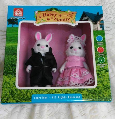Игрушки набор Happy Family грашка колекційна флок бархат