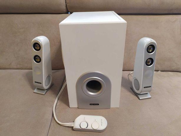 Głośniki komputerowe 2.1 Creative i-Trigue L3450 duże, białe.