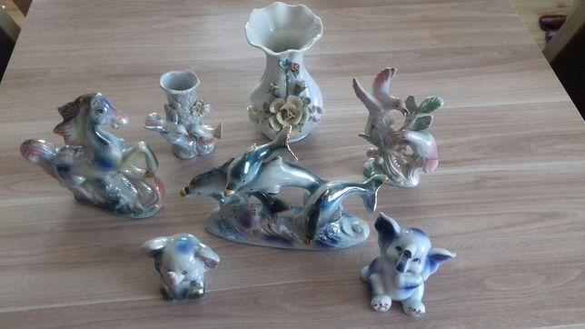 Figurki z porcelany 7 szt.