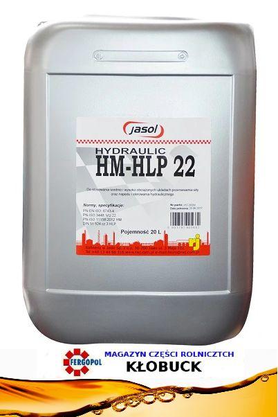 Olej Hydrauliczny HM HLP 22 Jasol 20L Kłobuck - image 1