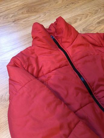 Курточка пуффер, пуховик, зимняя куртка красная обьемная,Zara,Mango