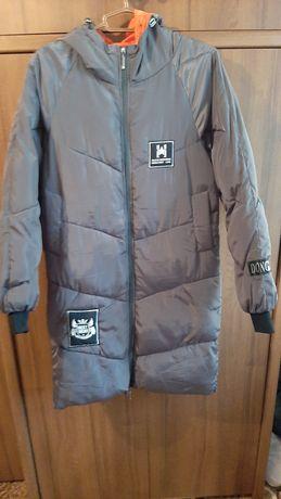 Куртка зимняя спортивная, серого цвета