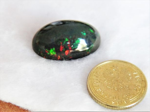 Naturalny czarny opal 9,05 carata na złoty pierścionek