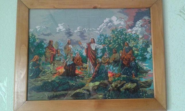 """Продам вишитий образ """"Ісус з апостолами"""""""
