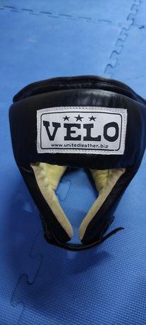 Кожанный шлем для единоборств