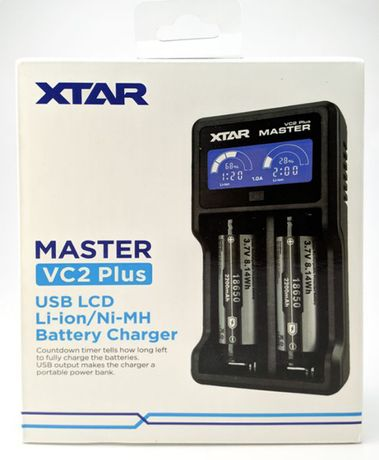 Акция! Зарядка XTar VC2 Plus Master + 2 аккумулятора LG B4 в подарок