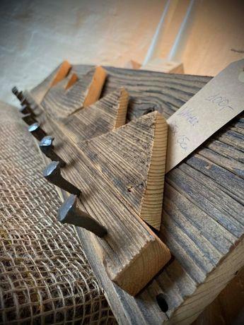 Wieszak z drewna Drewniany wieszak Loft Wooden hanger 65x15 cm
