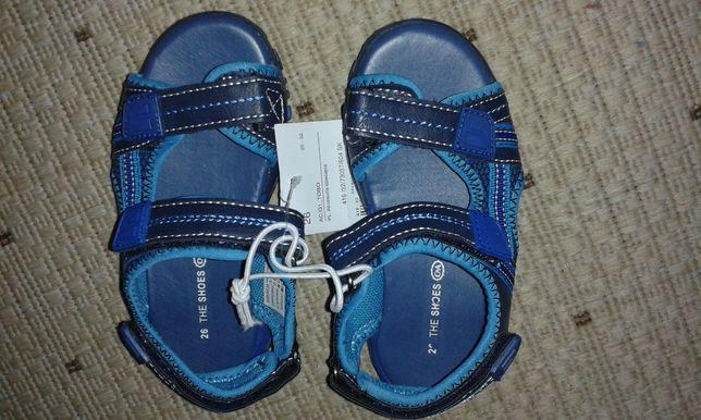 Sandałki dla chłopca,rozm.26 (dł.wkładki 17 cm)