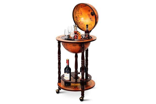 Глобус-бар напольный, 33 см сфера, коричневий, 33001R
