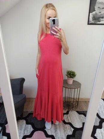 Czerwona sukienka ZARA rozmiar M ciąża