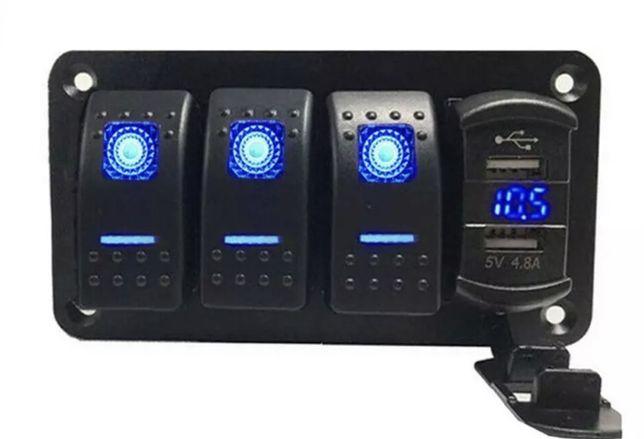 Przełącznik USB miernik akumulatora łódka